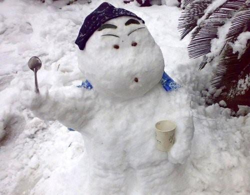 muneco nieve shin chan