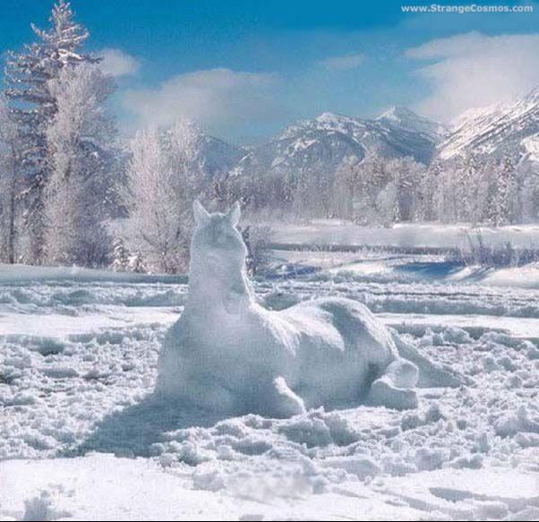 munecos nieve caballo