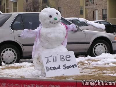 munecos nieve muerto
