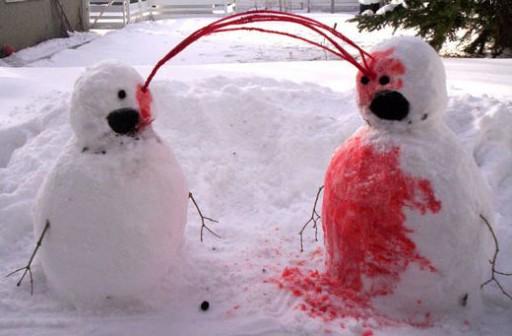 munecos nieve sangriento