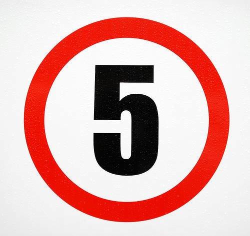 numero cinco 5