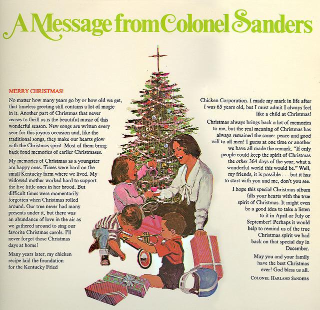 portadas discos navidad colonel sanders