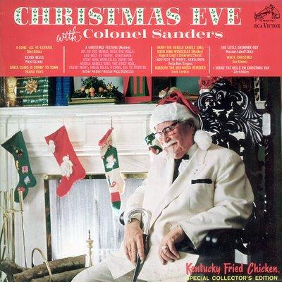 portadas discos navidad coronel sanders christmas