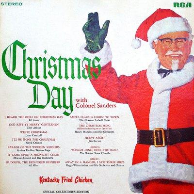 portadas discos navidad coronel sanders chritsmas day