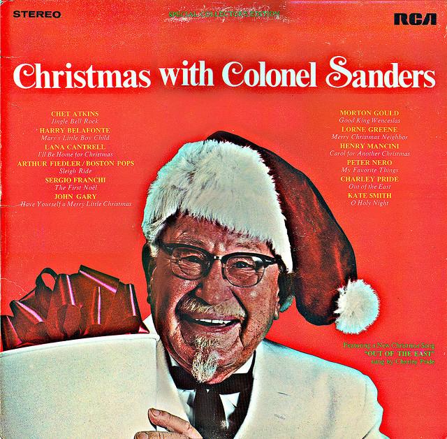 portadas discos navidad coronel sanders