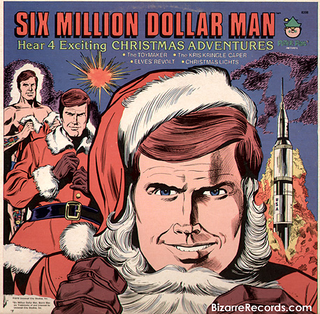portadas discos navidad six million dollar man
