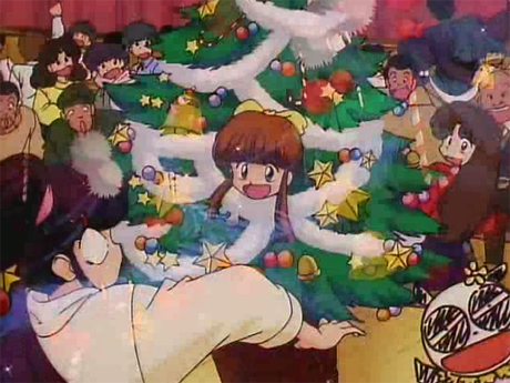 ranma anime christmas navidades movidas tendo arbol