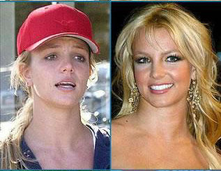 britney spears no make up comparison