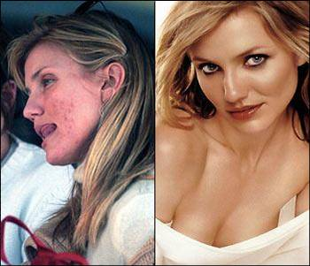 cameron diaz comparison ugly beauty