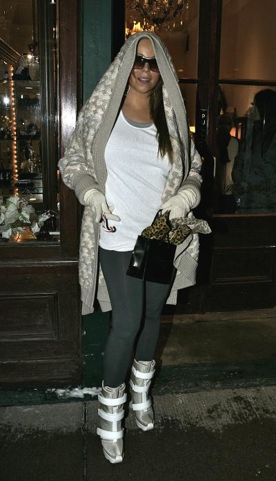Mariah Carey Walks The Street in Aspen