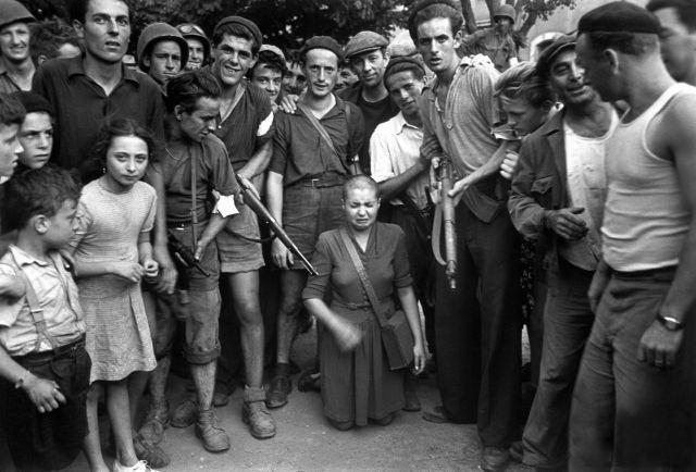 mujer francesa colaboracionista horizontal 1944 marsella