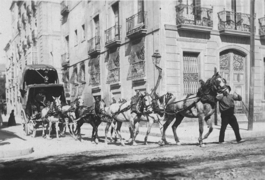 Diligencia alicante alcoy 1895 carruajes