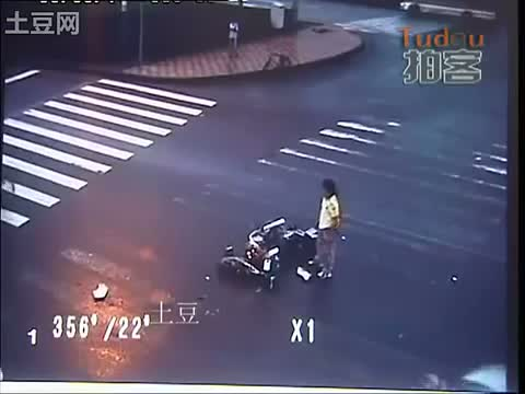 accidente moto trafico china 6