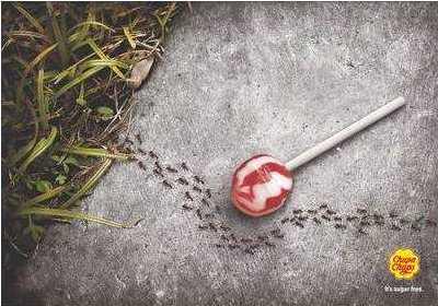 anuncio ingeniosos chupachups sin azucar