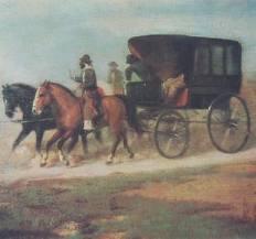 diligencia carruaje caballos