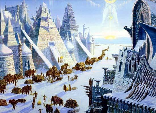hiperborea hyperborea hielo ciudad
