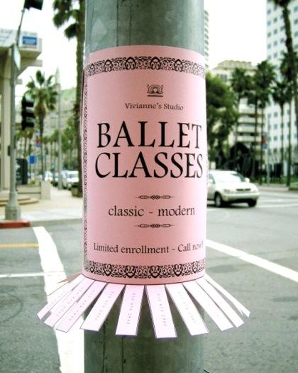 publicidad ingeniosa clases de ballet
