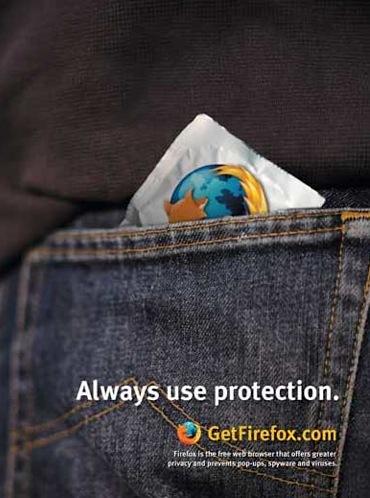 publicidad ingeniosa firefox siempre usa proteccion