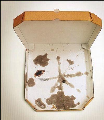 publicidad ingeniosa pizza dr barata cucaracha