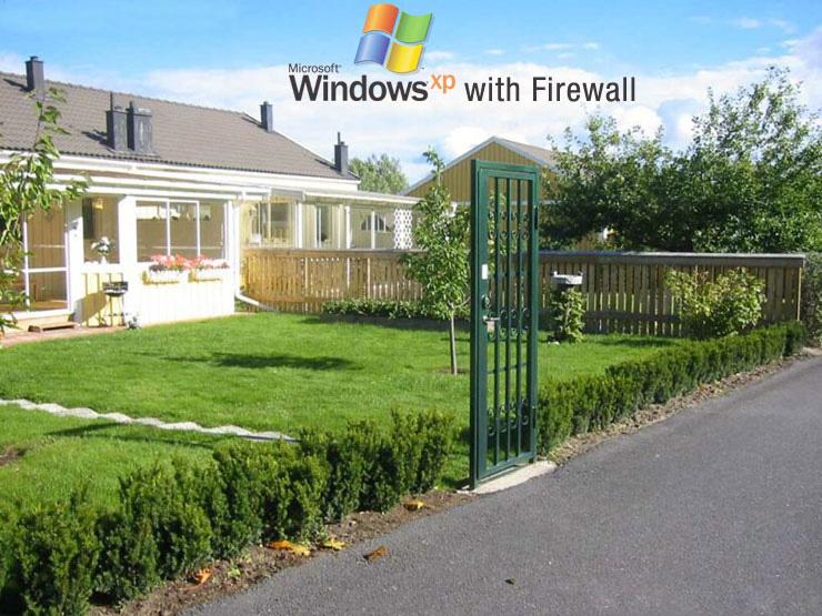 publicidad ingeniosa windows xp firewall