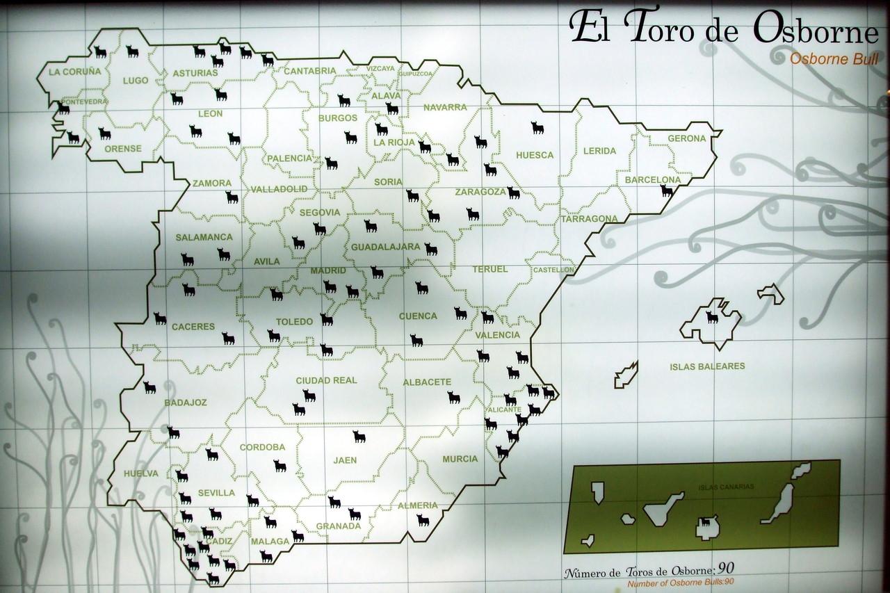 toro osborne mapa