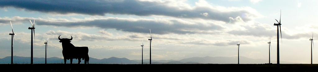 toro osborne paisaje horizonte