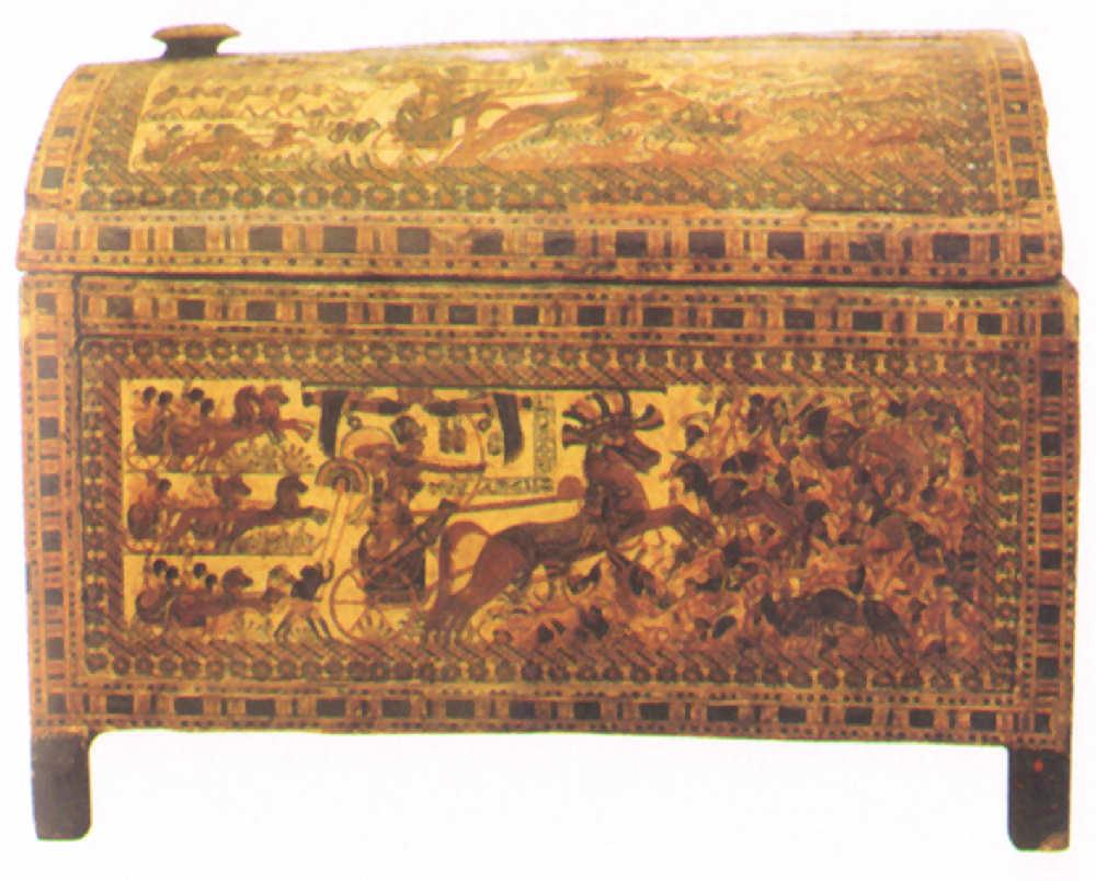 egipto cofre ajuar funerario Tutankamon