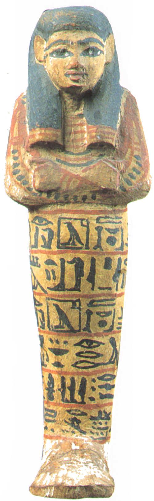 egipto ushebti madera Hathoremheb