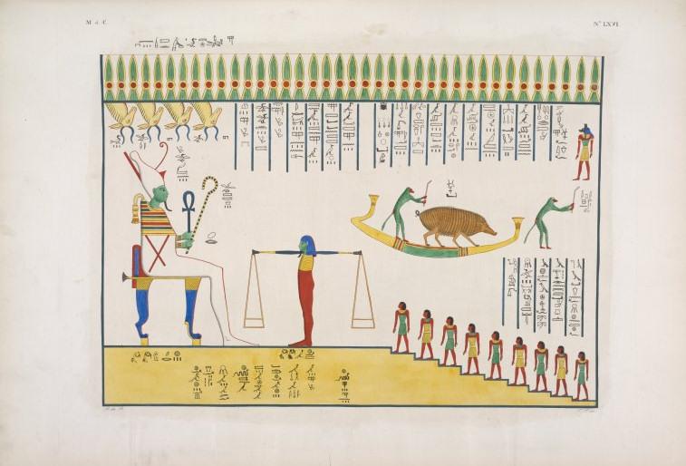 juicio balanza corazon tumba Ramses VI