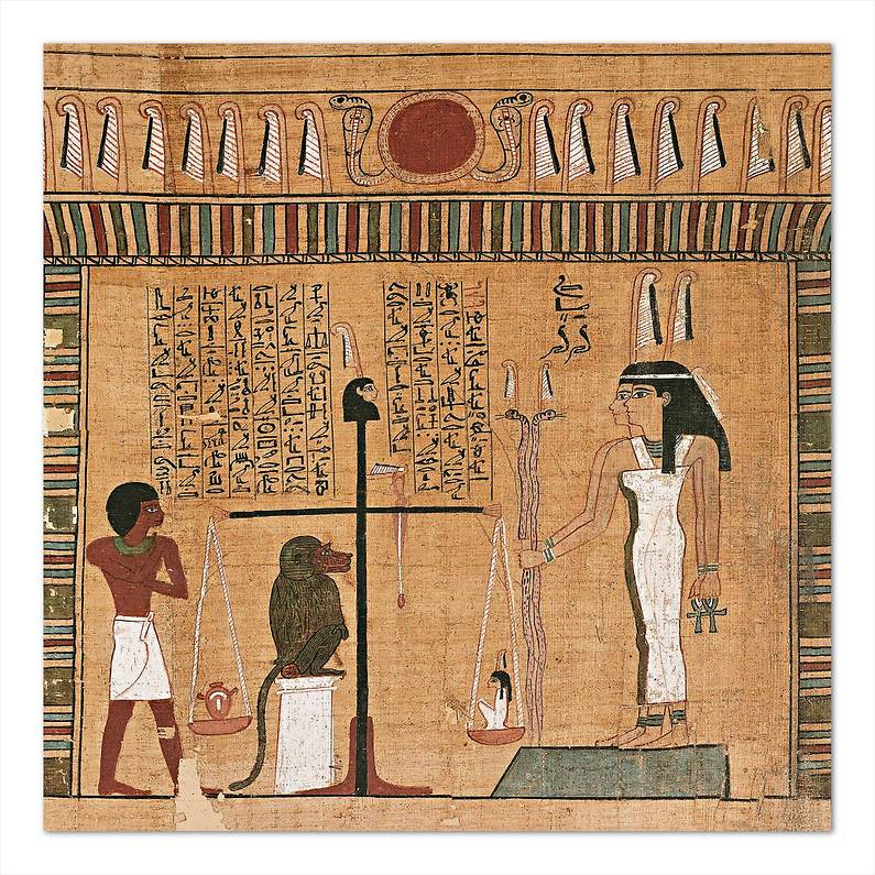 papiro balanza corazon peso Nebqed XVIII dinastia Amenophis III