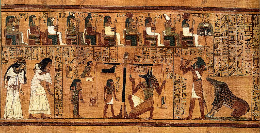 peso pesaje corazon egipcios muerte egipto balanza