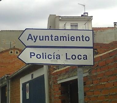 señal trafico policia loca