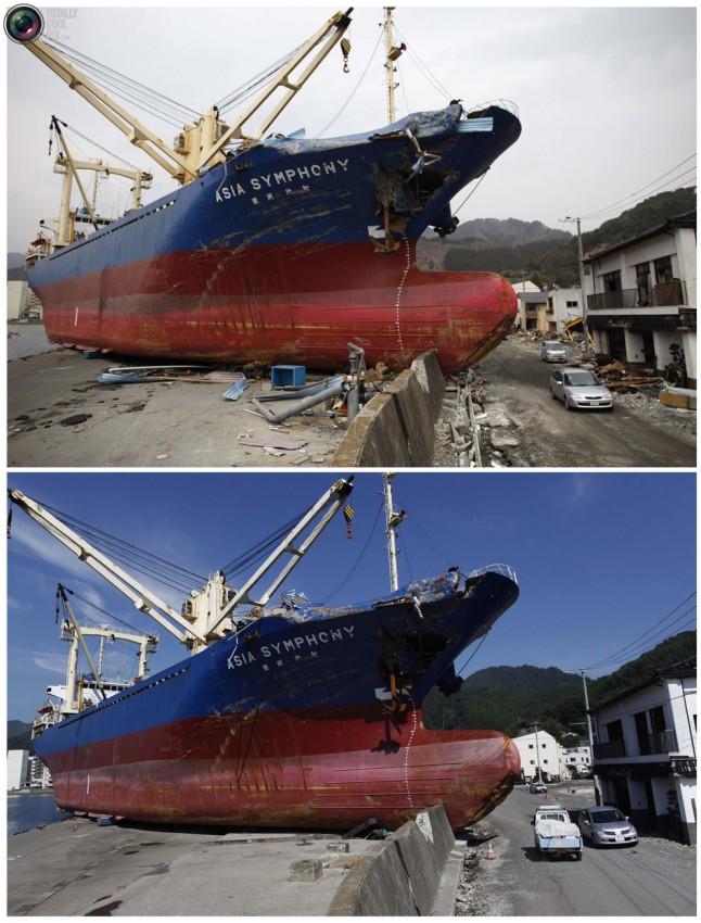 terremoto tsunami japon 2011 2012 antes despues 23