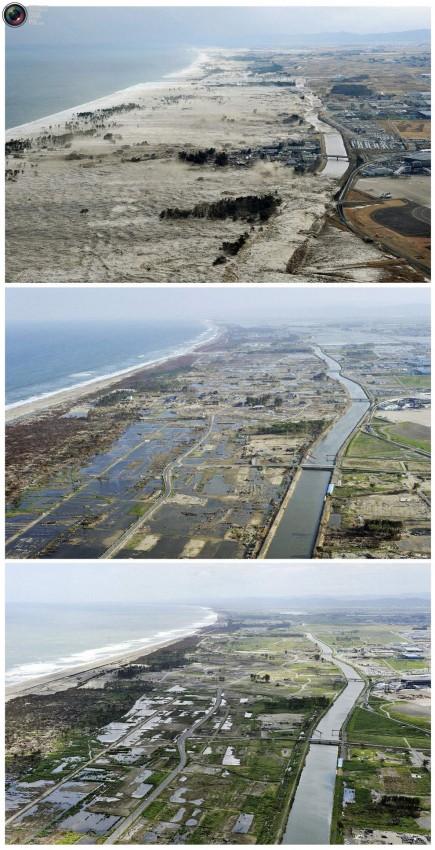terremoto tsunami japon 2011 2012 antes despues 26