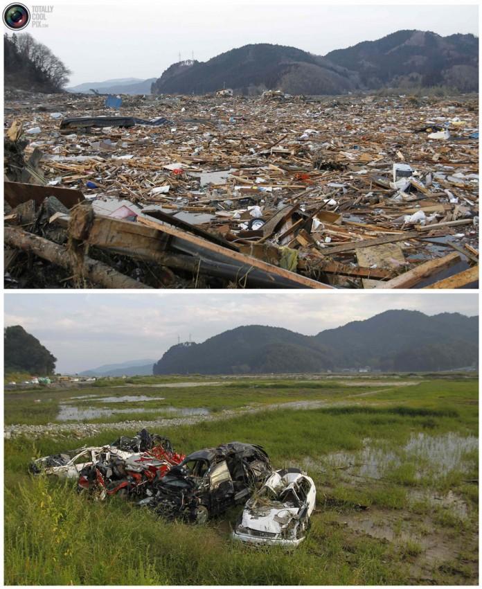 terremoto tsunami japon 2011 2012 antes despues 33