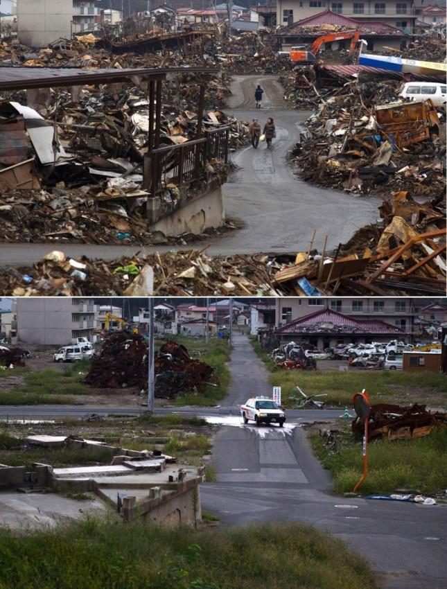 terremoto tsunami japon 2011 2012 antes despues 47