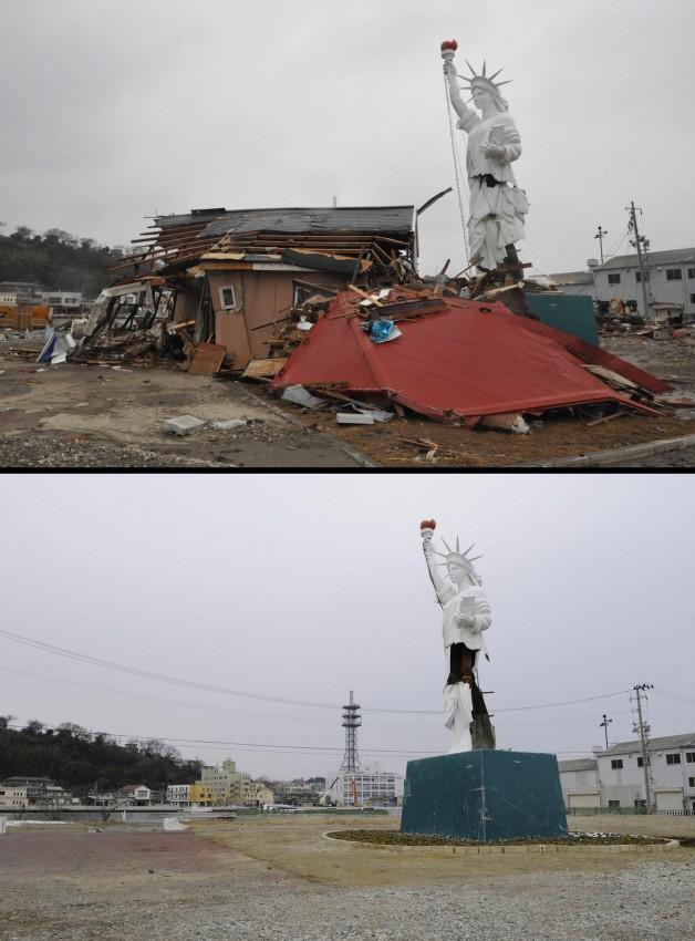 terremoto tsunami japon 2011 antes despues Ishinomaki