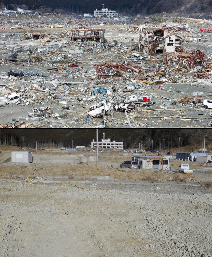terremoto tsunami japon 2011 antes despues Minamisanriku