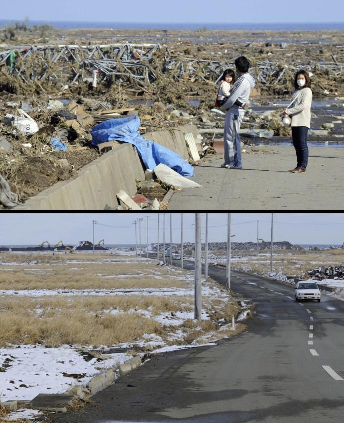 terremoto tsunami japon 2011 antes despues Minamisoma