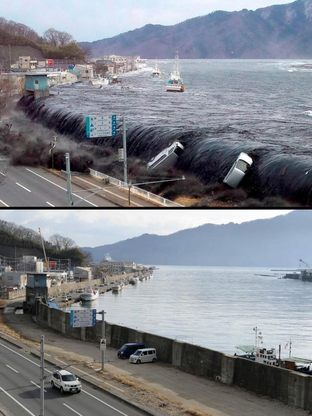 terremoto tsunami japon 2011 antes despues Miyako
