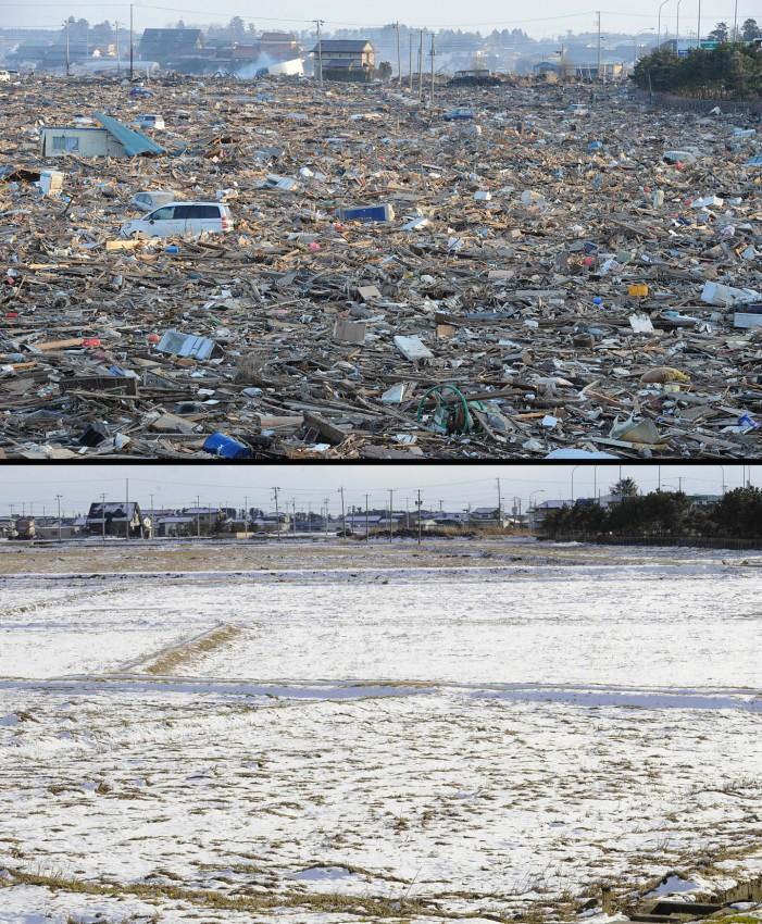 terremoto tsunami japon 2011 antes despues Natori