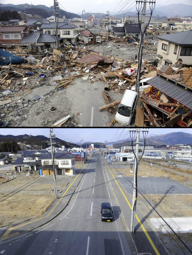 terremoto tsunami japon 2011 antes despues Ofunato
