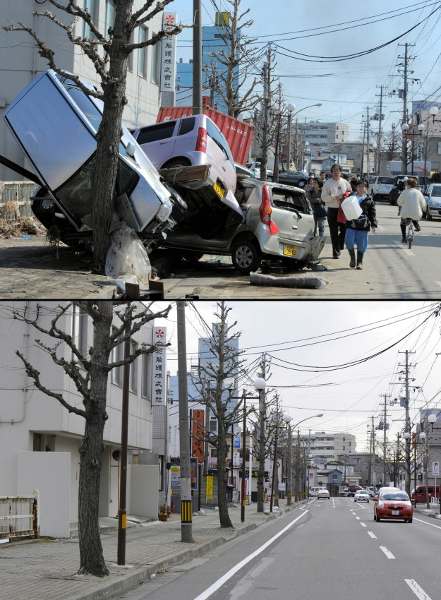 terremoto tsunami japon 2011 antes despues Tagajo