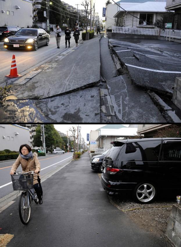 terremoto tsunami japon 2011 antes despues Urayasu