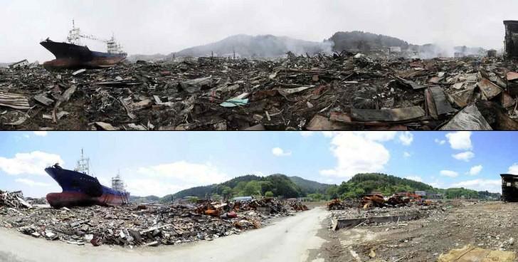 terremoto tsunami japon 2011 comparacion antes despues