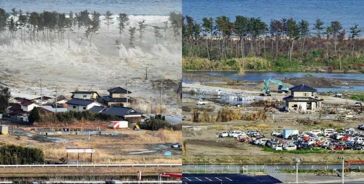 terremoto tsunami japon 2011 comparacion antes despues natori