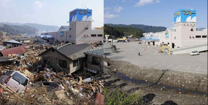 terremoto tsunami japon 2011 comparacion antes despues otsuchi