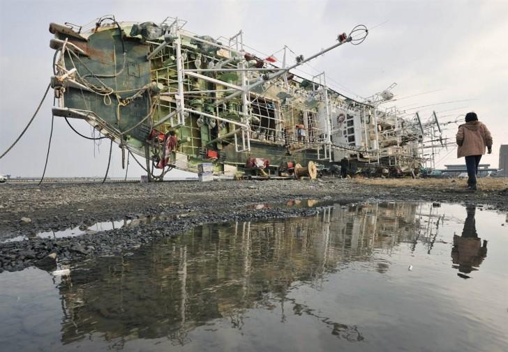 tsunami japon 11 marzo 2011 Hachinohe barco