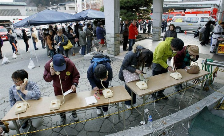 tsunami japon 11 marzo 2011 dia 3 Ofunato telefonos