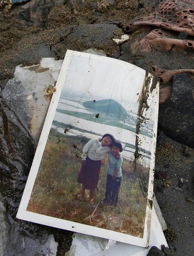 tsunami terremoto japon 2011 Higashimatsushima foto familia
